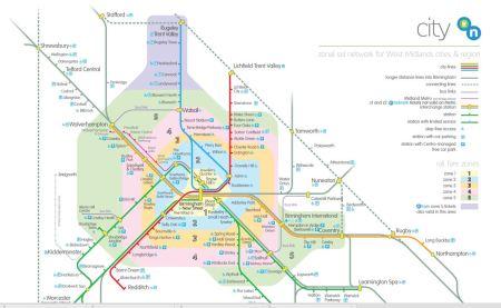West Midlands Transport Map