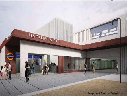 Hackney Wick Station Entrance