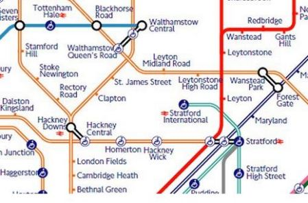 Hackney On The New Tube Map