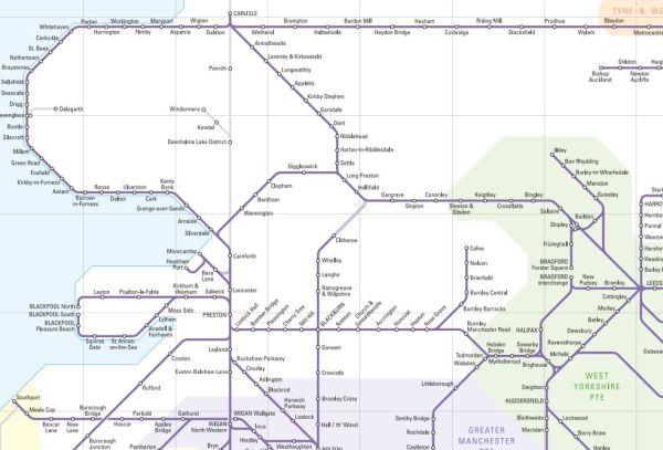 Northern Rail NW Map
