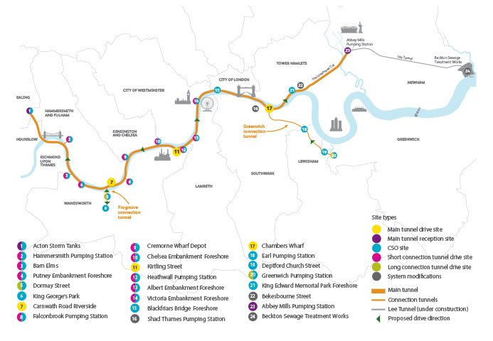 Thames Tunnel Route