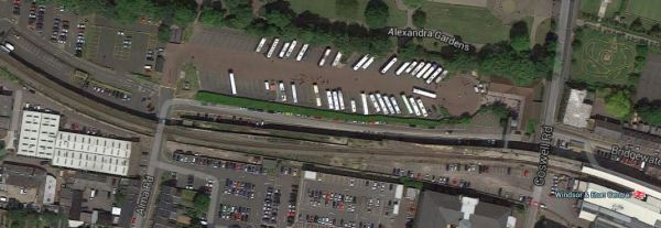 Windsor Viaduct And Car Parks