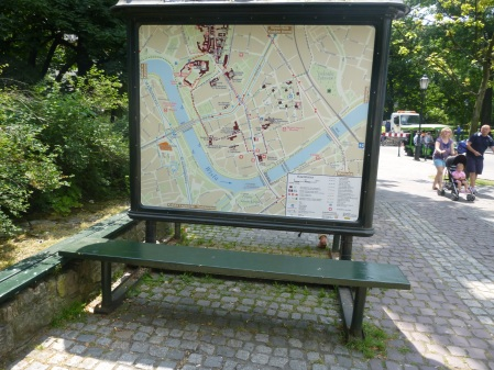 A Large Map With Seats