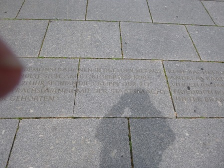 An Inscription In The Pavement