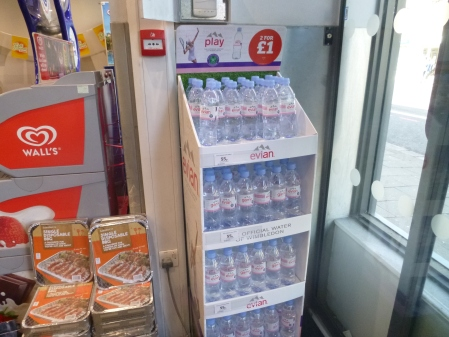 Evian Promotion In Sainsburys