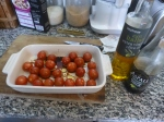 2. Take 400g Cherry Tomatoes, Pierce Them And  Drizzle Olive Oil And Balsamic Vinegar On Them