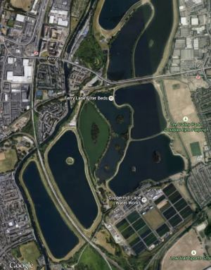 Google Map Of Walthamstow Wetlands