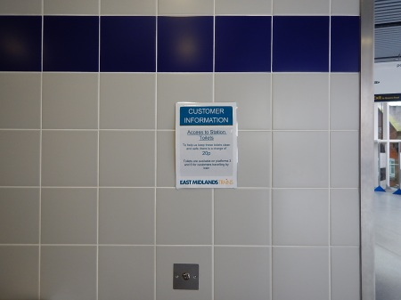 Using The Toilet In Nottingham Station