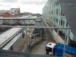 Looking Down From The Tram Bridge Between The Station And The New Car Park