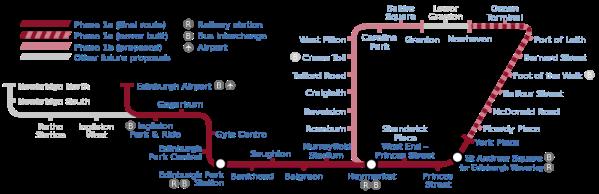 Edinburgh Tram Map