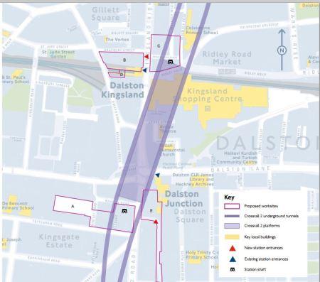Crossrail 2 Dalston Station