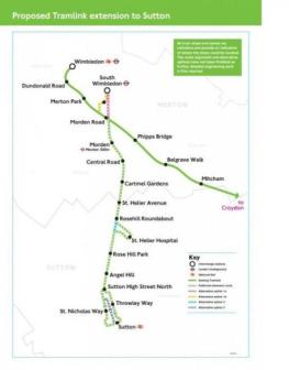 South Wimbledon To Sutton Extension