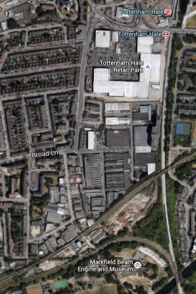 Tottenham Hale Tunnelling Worksite