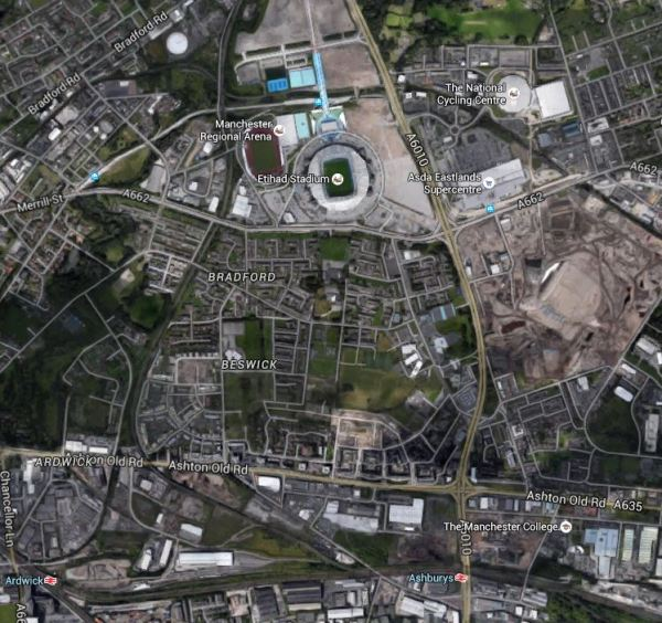 Ashburys And Etihad Stadium