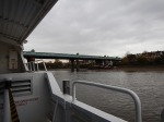 Approaching Fulham Railway Bridge