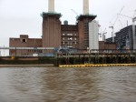 Conveyors And Boom In Front Of Battersea Power Station