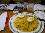 12. Serve With Hard Boiled Egg And Mango Cutney
