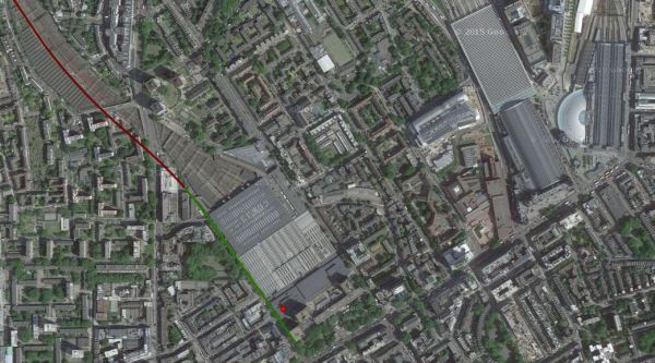 Euston, St. Pancras and Kings Cross Stations With HS2