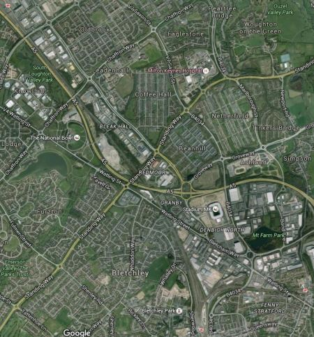 Milton Keynes Stations, Stadium MK And The Hospital