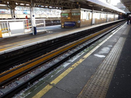 A Protected Conductor Rail At Barking Station