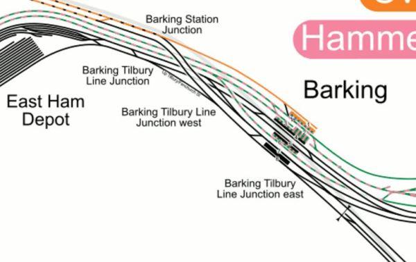 Lines At Barking Station