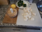 Cut Cod Into Kebab-Sized Chunks And Make A Mix Of 1 Slice Bread And 2 tbspParmesan