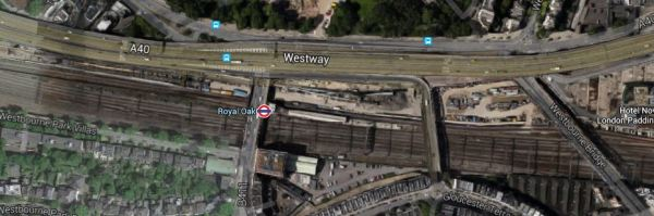 Westway, Crossrail And Royal Oak Station