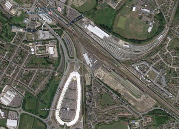 Lines Around Ashford International Station