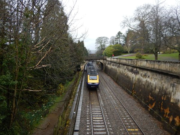 An InterCity 125 Passes Through Sydney Gardens