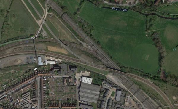 Nuneaton Flyover And North Chord