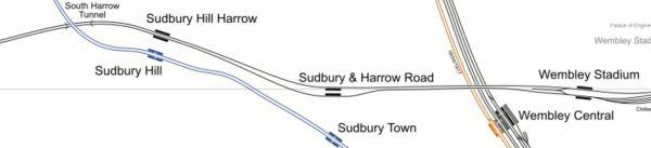 Chiltern Main Line Through Wembley And Harrow