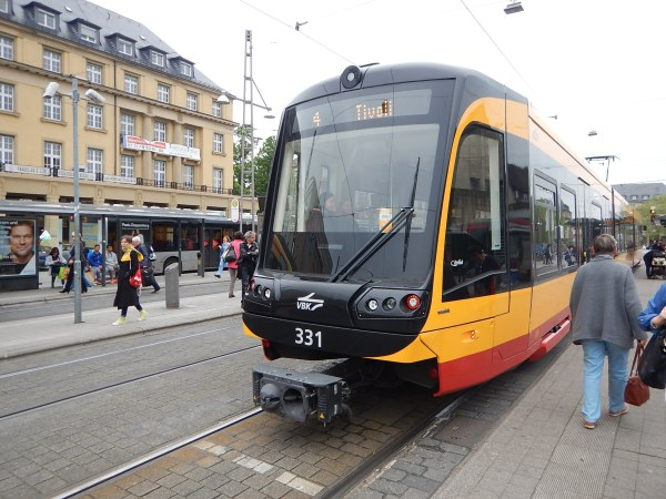 The Tram-Train At Karlsruhe Station