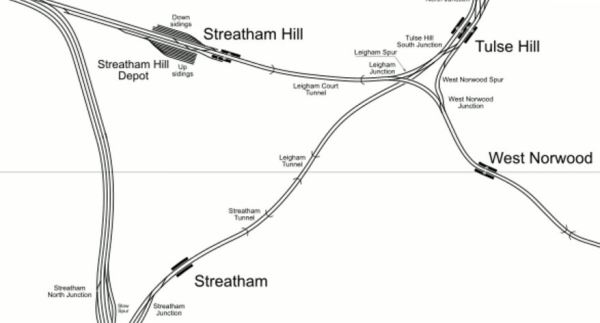 Lines From Streatham To Streatham Hill