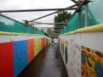 A Pedestrian Bridge With Children's Art
