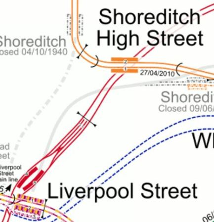 Liverpool Street And Shoreditch High Street Stations