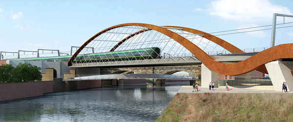 An Artists Impression Of The Ordsall Chord