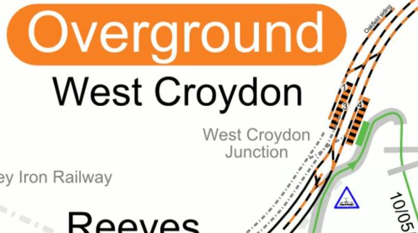 Lines At West Croydon Station