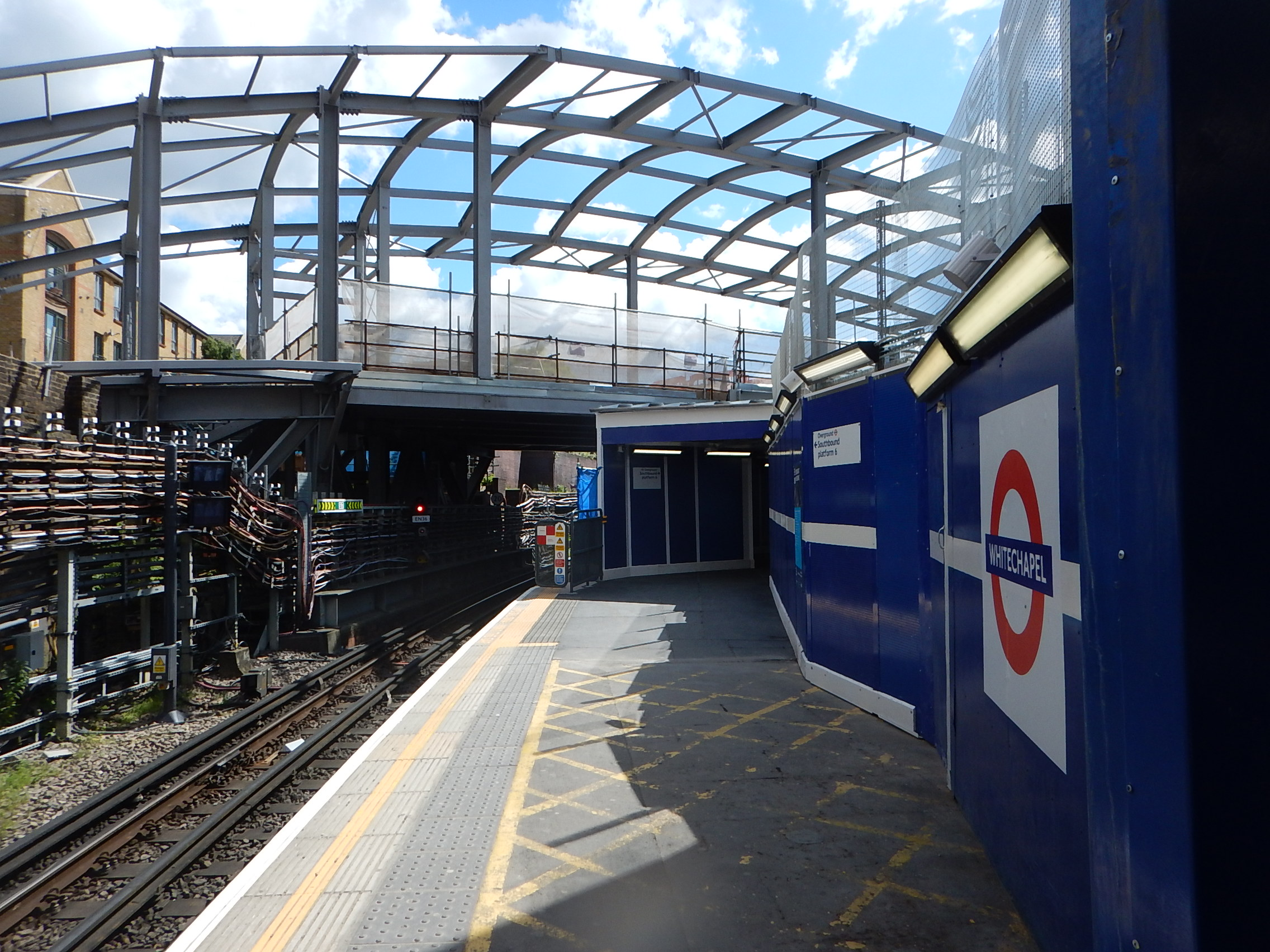 The Frame Of The New Roof At Whitechapel Station Takes