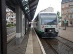 Arrival At Zwickau Zentrum Tram/TrainStop