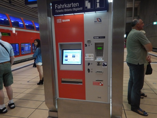 A Ticket Machine On The Platform At Leipzig Markt Station