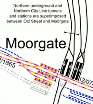 Lines At Moorgate Station