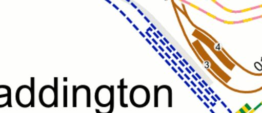 Bakerloo Line And Crossrail At Paddington Station
