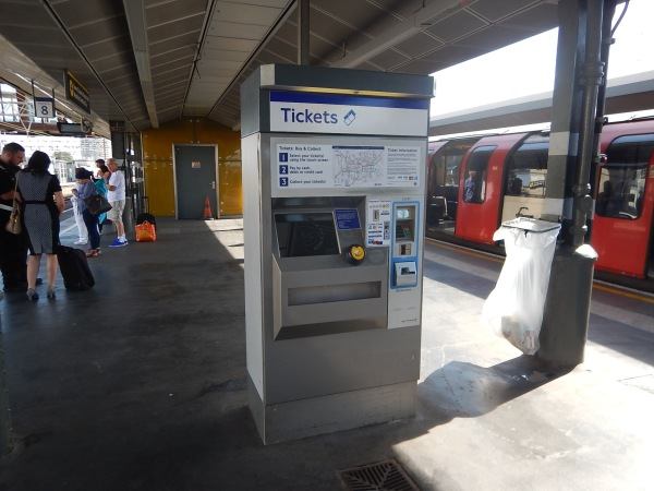 A Ticket Machine On Platform 7 And 8 At Stratford Station