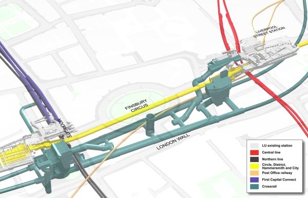Liverpool Street-Moorgate Station Schematic