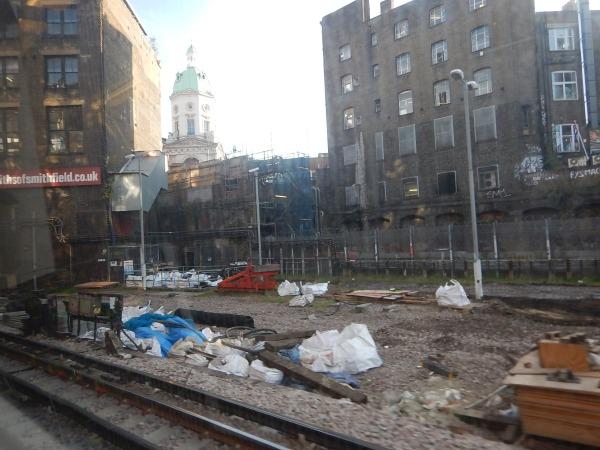 Behind The Hoardings On Charterhouse Street