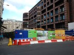 Crossrail Station Works In Front Of Broadgate