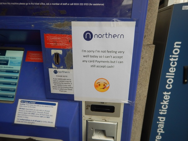 A Niortern Rail Ticket Machine At Manchester Victoria Station