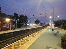 Manningtree Station At Dusk Looking North