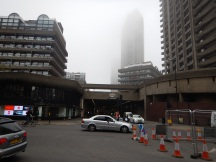 The Barbican In The Fog
