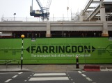 The Long Lane Entrance To The Farringdon Crossrail Station